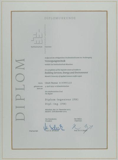 Diplom Versorgungsingenieur
